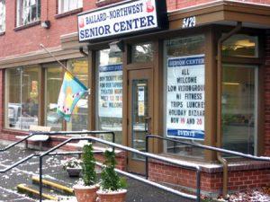 Ballard Senior Center, storefront